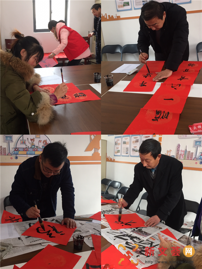 我們的節日|南京江寧孟塘社區揮毫寫春聯 送福進萬家