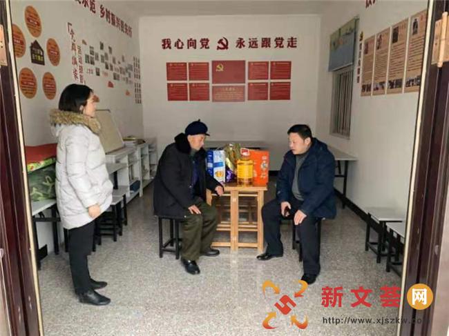 南京江寧古泉社區新春送溫暖 走訪慰問轄區群眾