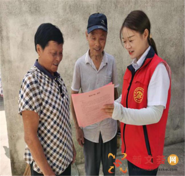 南京六合冶山街道石柱林社区全科社工助力人口普查宣传