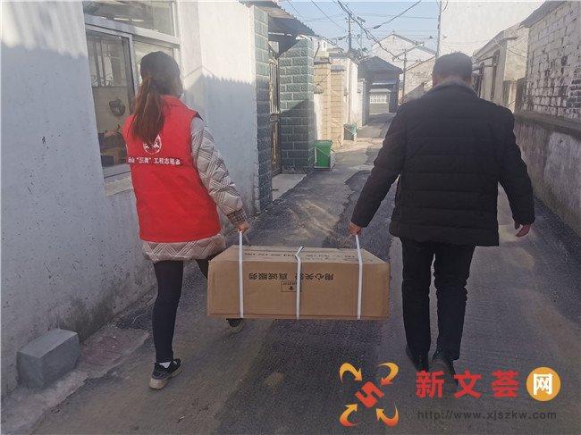 南京江宁汤山街道上峰社区:冬日送温暖 情系困难户