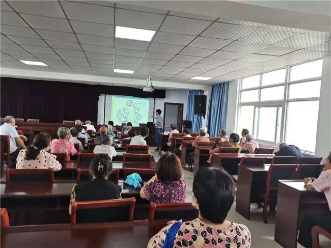 南京六合冶山街道白云山社区开展老年人健康知识讲座